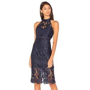 NWT Bardot Isa Lace Halter dress | Size L